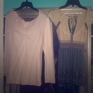 Long and short sleeve Free People Blouses